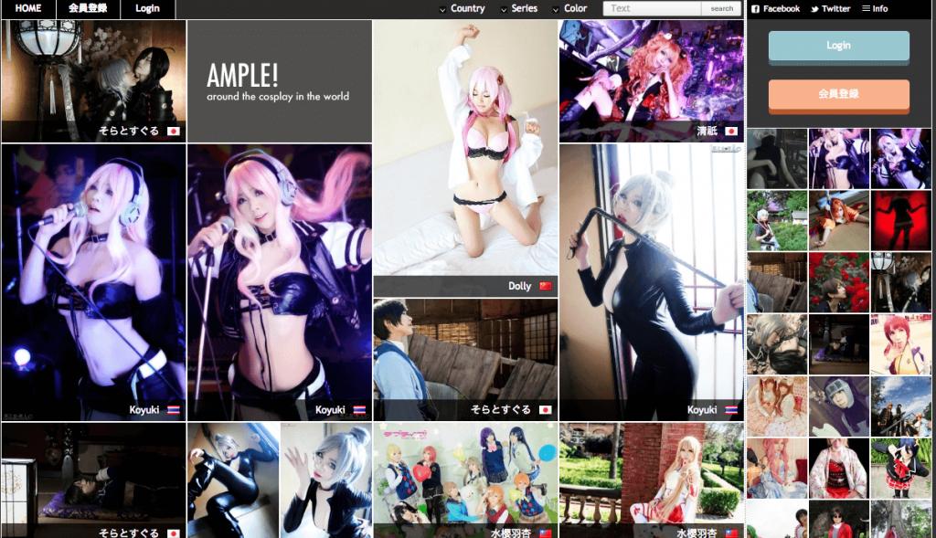 見てて楽しい♪世界中のコスプレイヤーの写真が見れる「AMPLE!(アンプル)」
