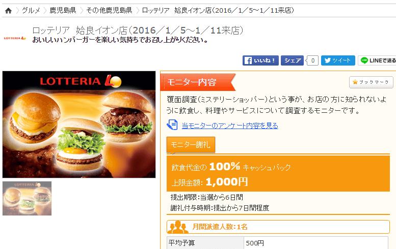 お得なクーポンサイトよりモニターサイトがお得!食事がタダの案件ご紹介♪