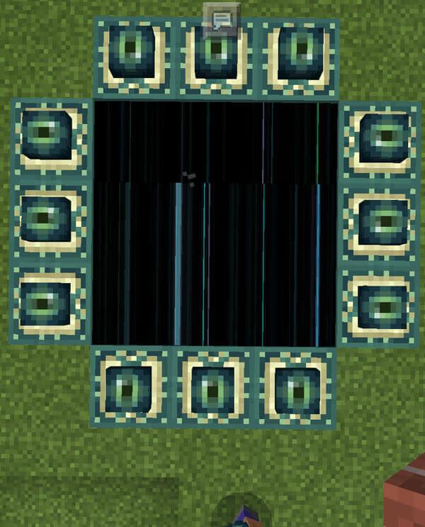 マイクラPE クリエイティブでエンドの作り方|エンドポータルの置き方注意!