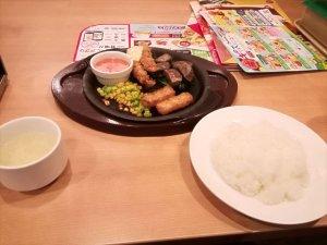 ガスト|牛赤身カットステーキ&海老フライ食べてみた