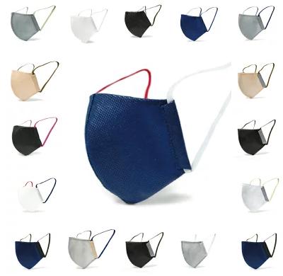 洗濯機で洗える!カラー豊富 日本製 不織布マスク 選べる3サイズ( 小さめ 標準 大きめ ) 耳が痛くなりにくい