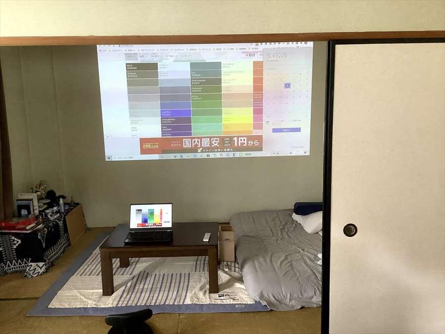 ホライゾンプロを12畳の部屋に設置し明るさチェックしてみた