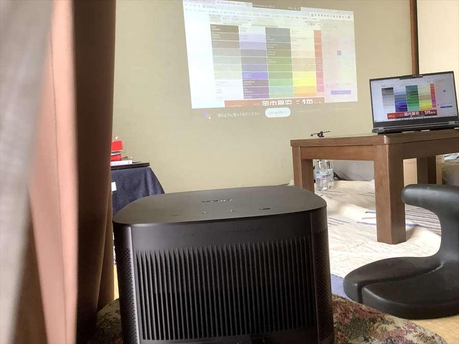 ホライゾンプロを6畳の部屋に設置し明るさチェックしてみた